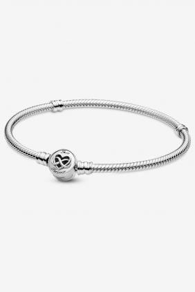 Comprar Pulsera Moments Cadena de Serpiente Corazón Infinito Pandora