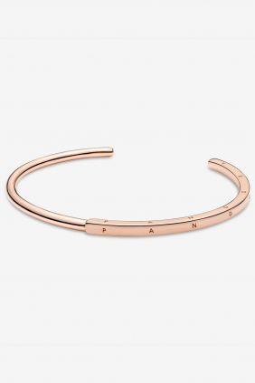 Comprar online Pulsera Rígida Pandora Signature I-D Oro Rosa 589493C00