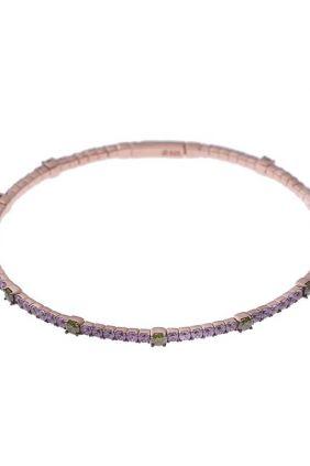 PulseraSalvatore Plata chapada con circonitas color semirrigida