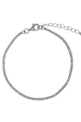 Pulseras bonitas de Salvatore plata rodio Riviere circonitas blancas