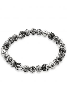 Comprar Pulsera Thomas Sabo Plata Rebel at heart Cruz y Calavera