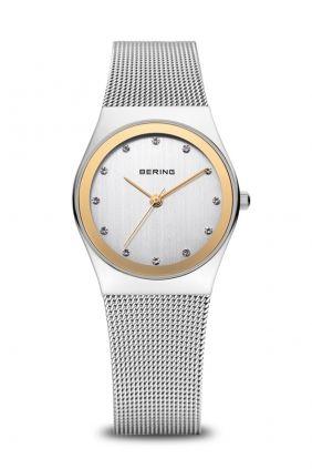 Comprar online Reloj Bering Malla Milanesa Detalle Dorado 12927-002