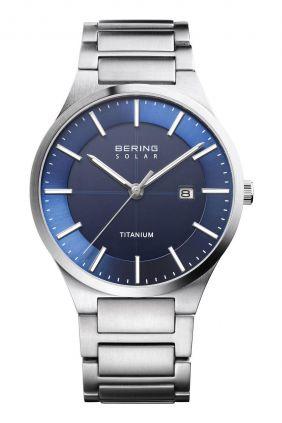 Comprar Reloj Bering titanium solar de hombre azul 15239-777