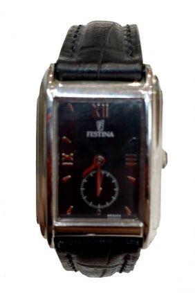 Comprar online Reloj Festina señora esfera rectangular correa piel F6232