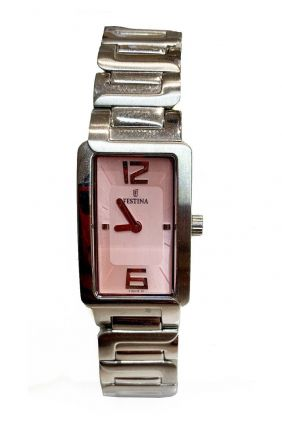 Comprar online Reloj Festina señora esfera rectangular rosa F16216