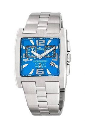 Comprar online Reloj Lotus Acero Crono Rectangular Esfera Azul 153435/5