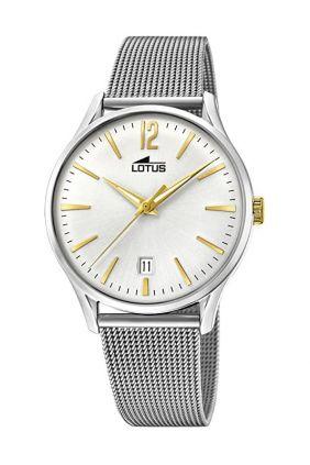 Reloj Lotus caballero vintage malla milanesa
