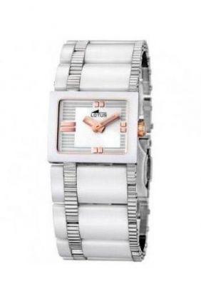 Reloj Lotus señora caja cuadrada armys cerámica 15597