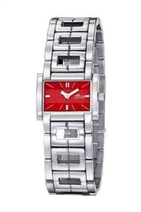 Comprar Reloj Lotus señora caja cuadrada esfera roja 15365