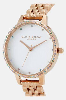 Comprar online Reloj Olivia Burton dorado OB16RB21 Rainbow