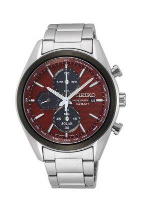 Comprar Reloj Seiko Solar Panda Macchina Sportiva crono Rojo ssc771