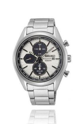 Comprar online Reloj Seiko Solar Panda Macchina Sportiva crono blanco ssc771
