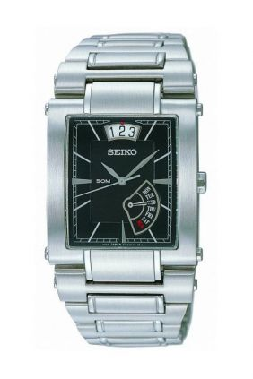 Comprar Reloj Seiko caballero rectangular esfera negra SPQ007