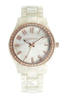 Reloj Viceroy señora carey blanco bisel circonitas