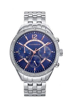 Comprar online Reloj Viceroy señora esfera azul, bisel circonitas 471070