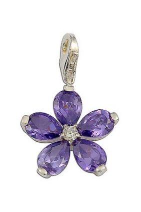 Thomas Sabo Colgante Flor Circonita Violeta