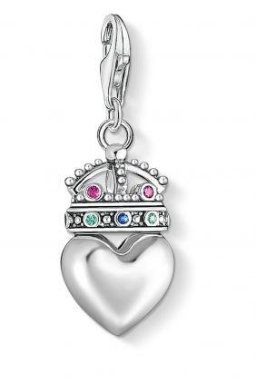Thomas Sabo colgante charm corazon con corona