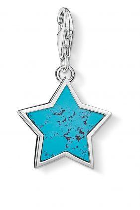 Thomas Sabo colgante charm estrella turquesa