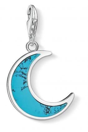 Thomas Sabo colgante charm luna turquesa