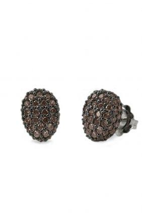 Comprar online Pendientes de plata y circonitas chocolate Bohemme 7TUT022EBR
