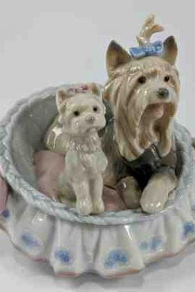 Comprar Figura cesto perros de Lladró 6469